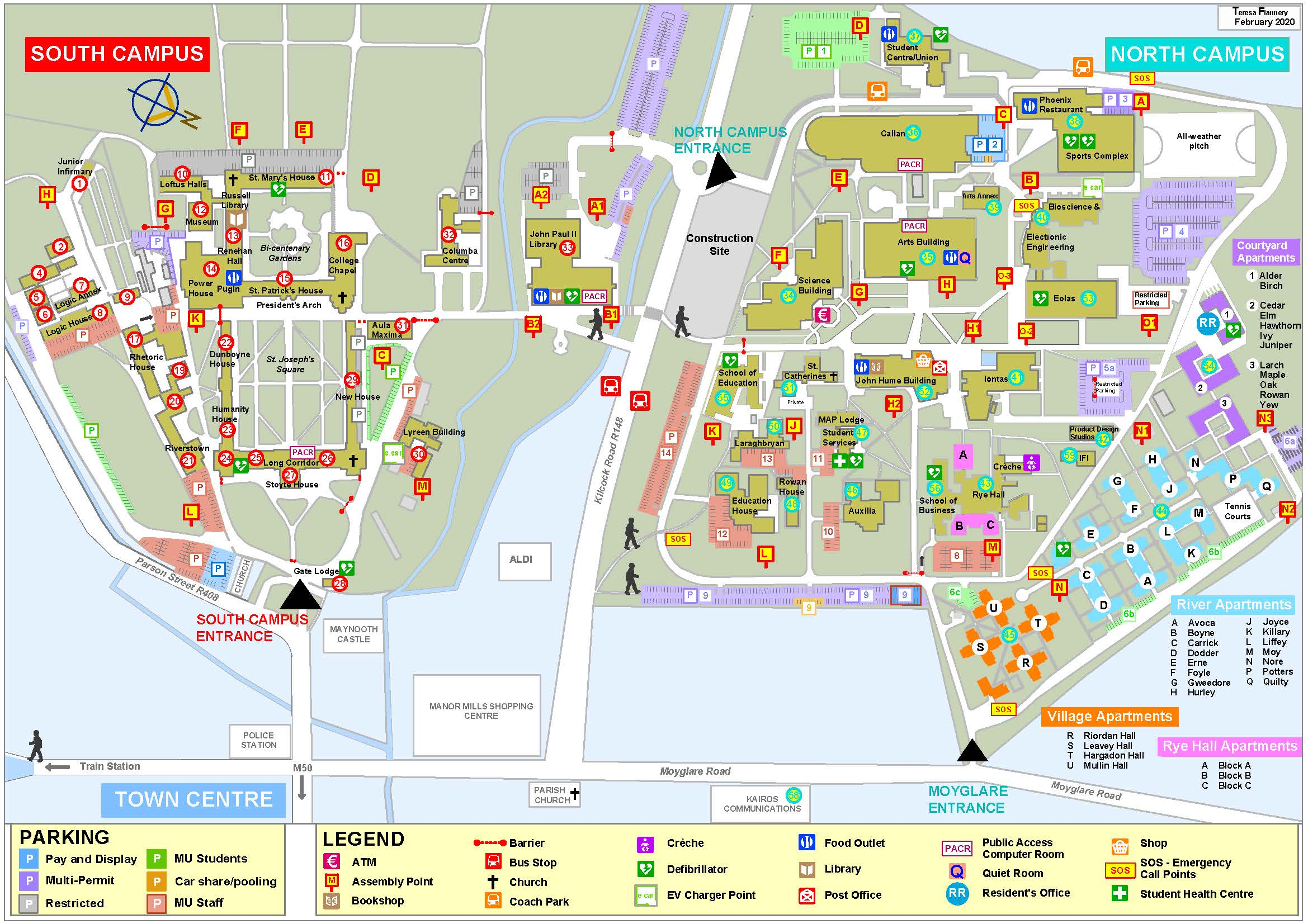 Maynooth University Campus Map