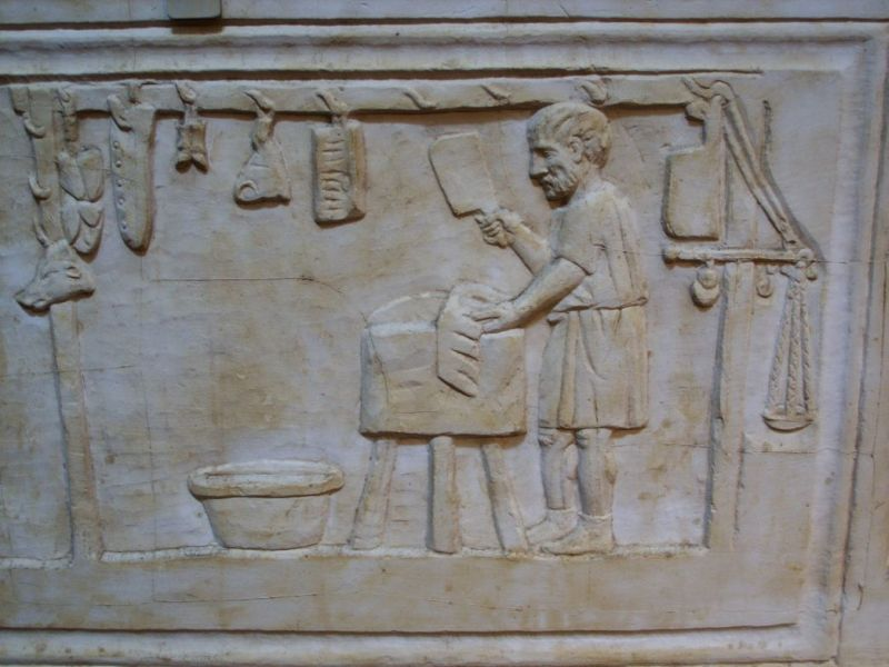 Ancient Classics - Roman butcher relief, Ashmolean Museum, Oxford - Maynooth University