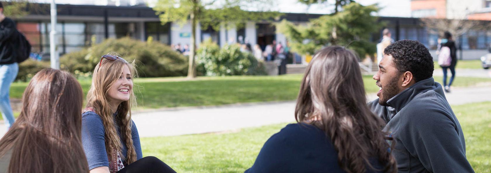 students - sunshine - North Campus