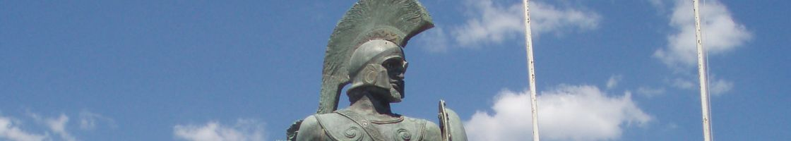 A hoplite soldier from the site of Ancient Sparta