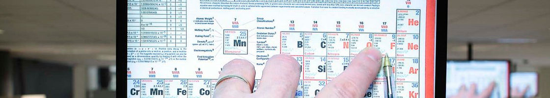Biology - Hand on Periodic Table on Screen - Maynooth University