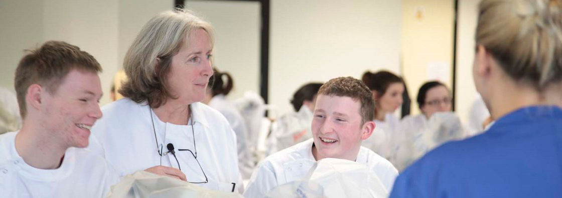 Biology - Lecturer Chatting with Students - Maynooth University