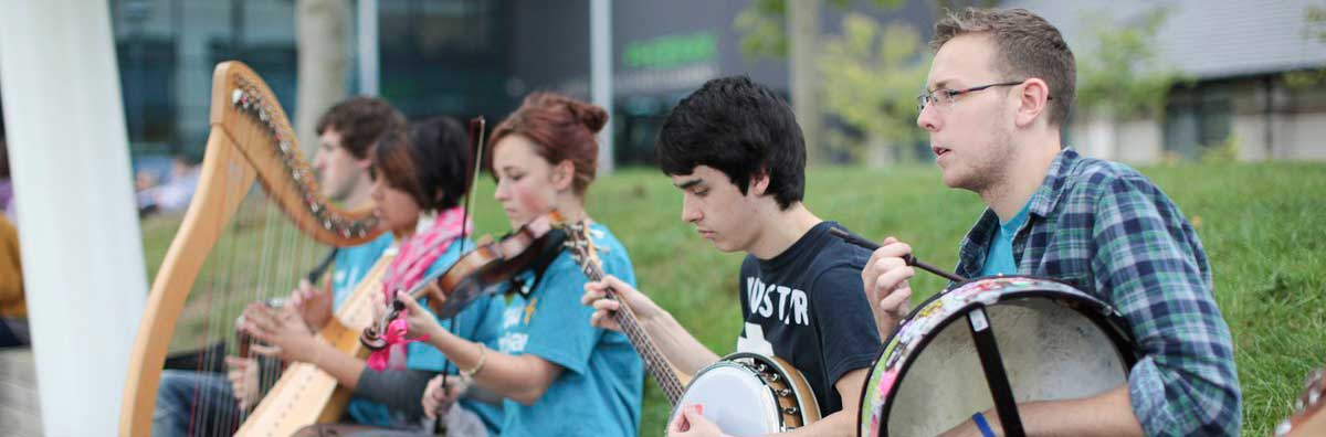 Clubs and Societies - Students Playing Instruments - Maynooth University