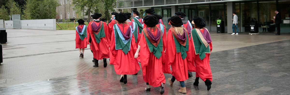 Conferring - Students Walking away from Camera - Maynooth University