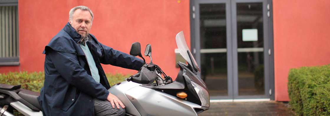 German - Jeff Morrison on Motor Cycle - Maynooth University