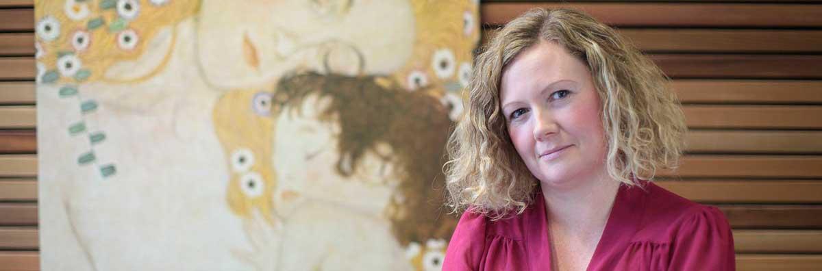 German - Valerie Heffernan on Front of Painting - Maynooth University