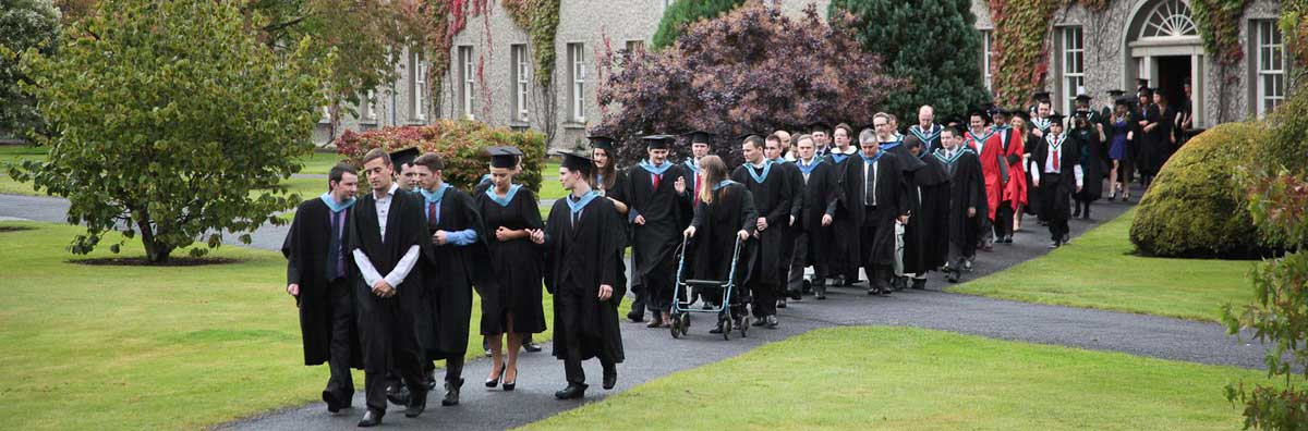 Graduation Procession - Graduates Walking Out  - Maynooth University
