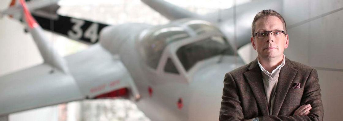 History - Ian Speller with Plane - Maynooth University
