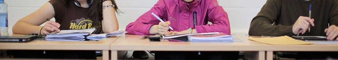 Language Centre - Students at Lecture Writing Notes - Maynooth University