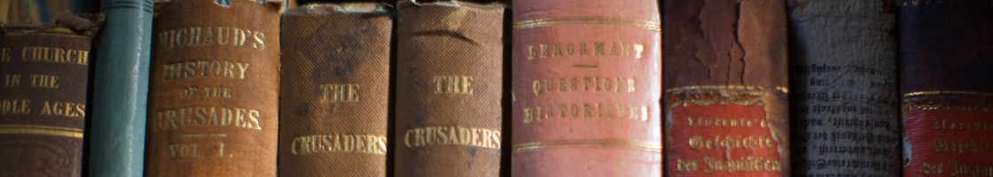 Old books on shelf - Maynooth University