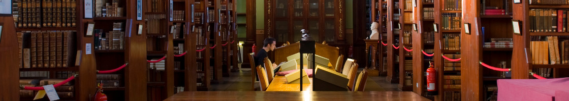 Student in Russell Library - Maynooth University