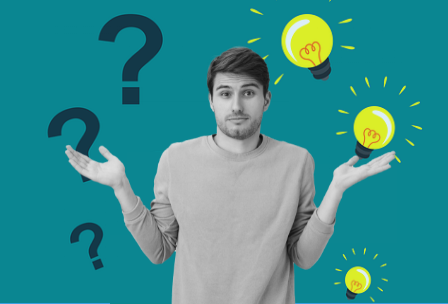 careers interest tests - lightbulbs and question marks