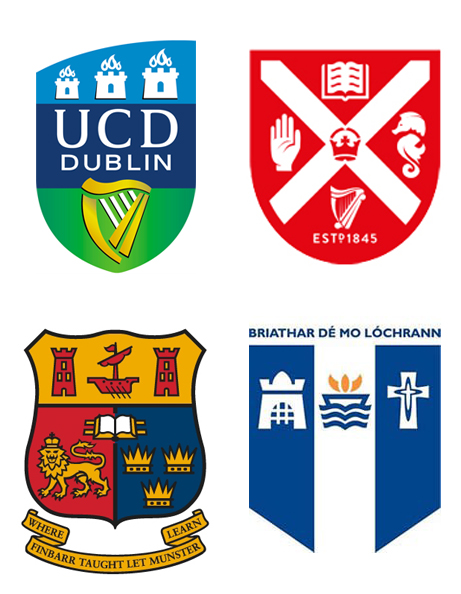 UCD, QUB, UCC, Mary Immaculate UL