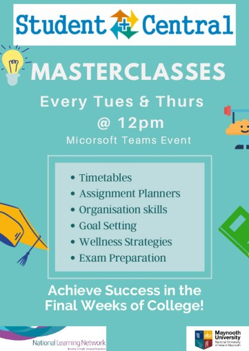 Student Central supports Masterclasses for semester 2 2021