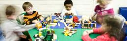 Student Services - children playing with toys creche carousel 2 1200 x 200 - Maynooth University