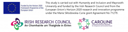 Irish Research Council Logo.  EU logo  Funded by the Horizon 2020 Framework of the European Union. CAROLINE Collaborative Research Fellowships for a Responsive and Innovative Europe
