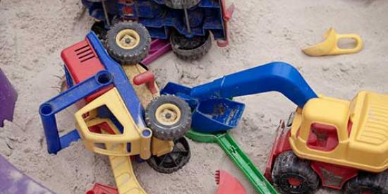 Creche - Toys in Sandpit - Maynooth University