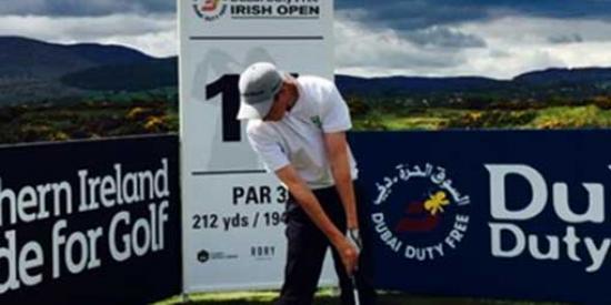 Golf - Gary Hurley at 2015 Irish Open - Maynooth University
