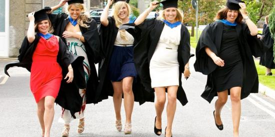 Graduation 2012 - Female running st joes  - Maynooth University