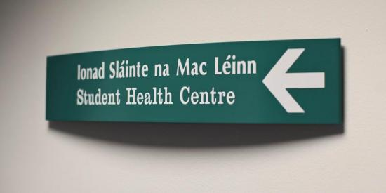 Student health centre - Sign 1 general - Maynooth University