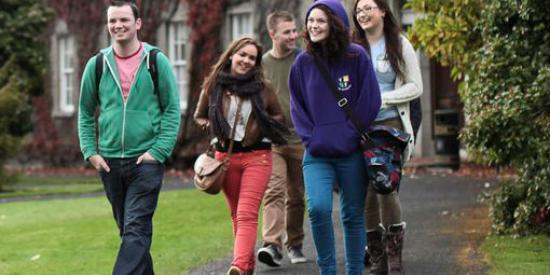 Students Walking across South Campus  - Maynooth University