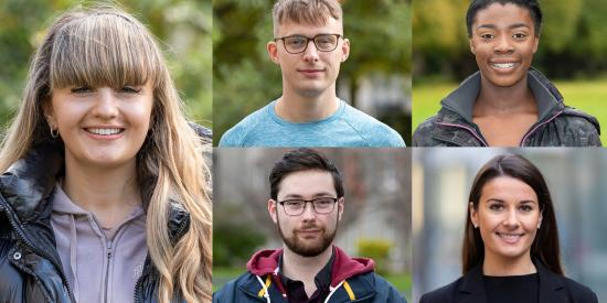 Portrait photos of Maynooth Undergraduate students
