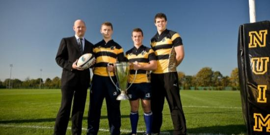 rugby - president with heineken cup- nui maynooth