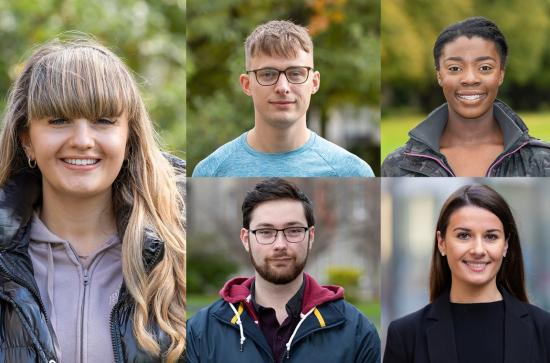 Portrait photos of Maynooth Undergraduate students