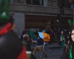 IO_International student with Irish flag gdtography